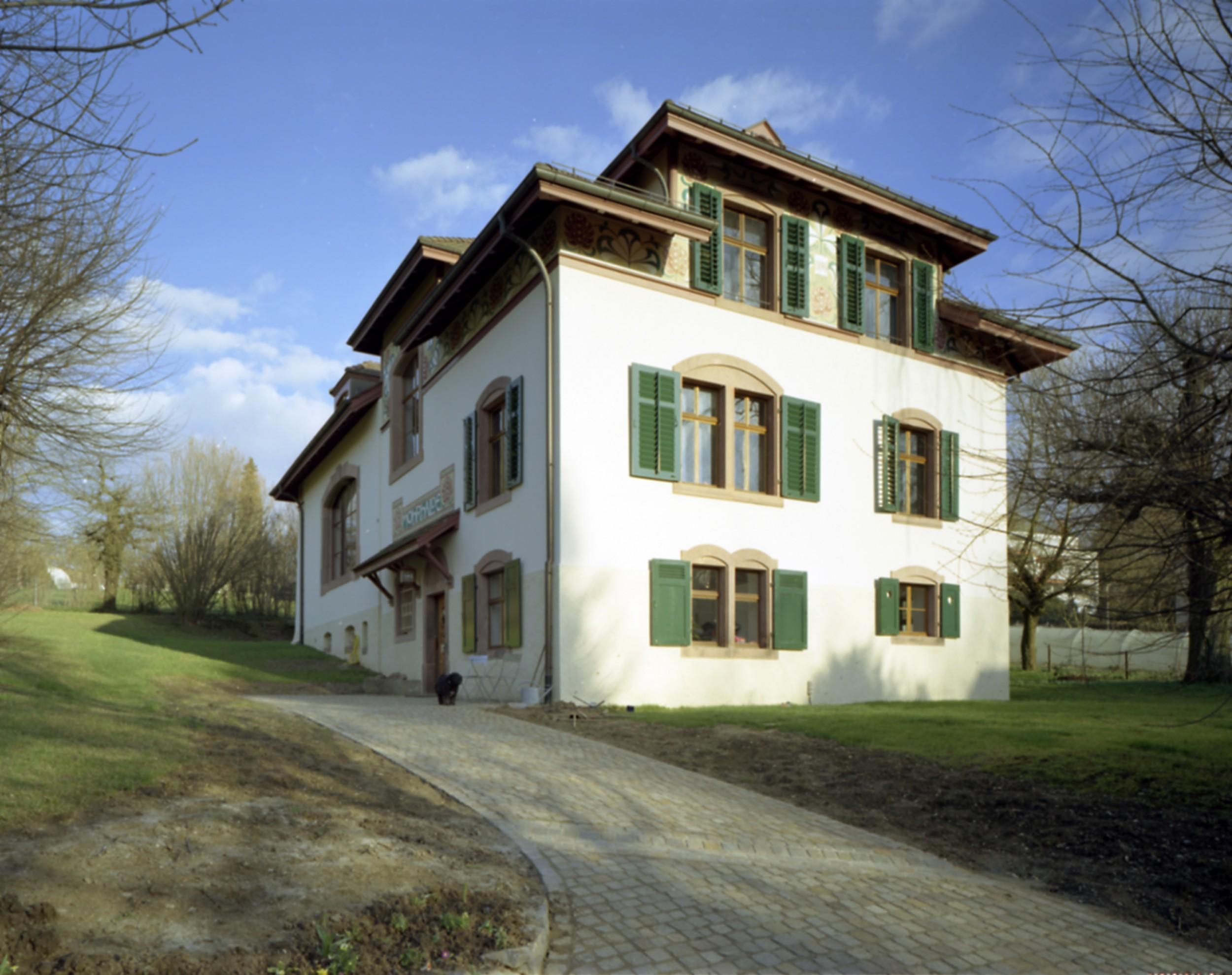 Architekturb ro yvonne r tsche basel villa sandreuter - Architekturburo basel ...